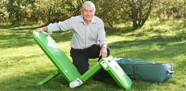 Renfrew Group International assist UKDI, with a new type of stretcher, which has recorded a bumper six months of sales after securing four new NHS contracts.